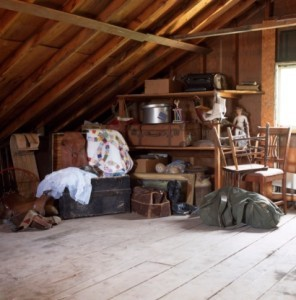 The attic of the Streetly house clearance