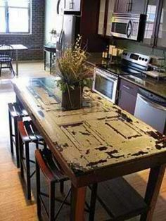 Oak Door to Dining Table Upcycling Idea